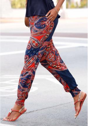 Пляжные брюки Lascana. Цвет: темно-синий/красный