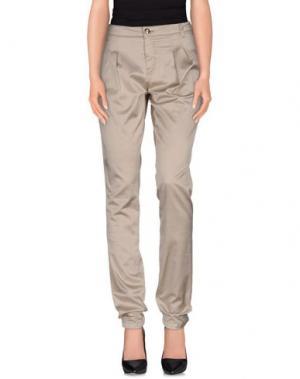 Повседневные брюки DRH. Цвет: золотистый