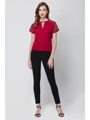 Блузка VILATTE. Цвет: красный