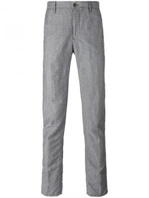 Slim fit trousers Incotex. Цвет: серый