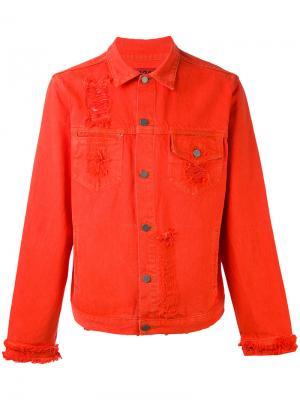 Джинсовая куртка на пуговицах 424 Fairfax. Цвет: красный