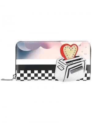 Континентальный кошелек  с принтом тостера Marc Jacobs. Цвет: многоцветный