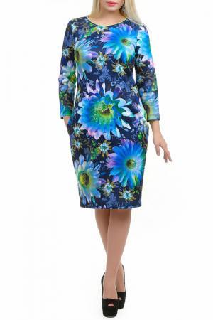 Платье Услада LESYA. Цвет: мультицвет