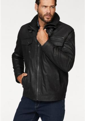 Кожаная куртка MANS WORLD MAN'S. Цвет: темно-коричневый