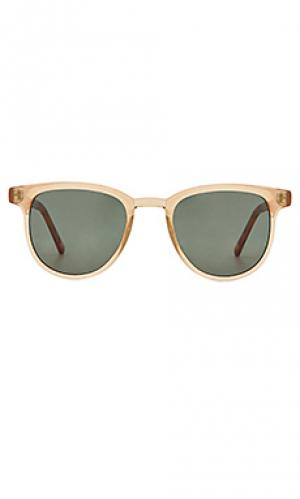 Солнцезащитные очки francis Komono. Цвет: коричневый