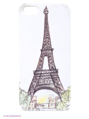 Чехол для IPhone 5 Париж Mitya Veselkov. Цвет: белый, коричневый