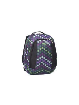 Ранец ученический CAGIA. Цвет: черный, зеленый, фиолетовый