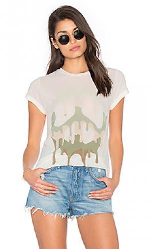 Классическая футболка peace edda Lauren Moshi. Цвет: кремовый