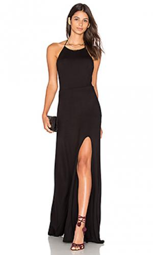 Макси платье nikki De Lacy. Цвет: черный