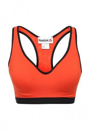 Топ спортивный Reebok. Цвет: оранжевый