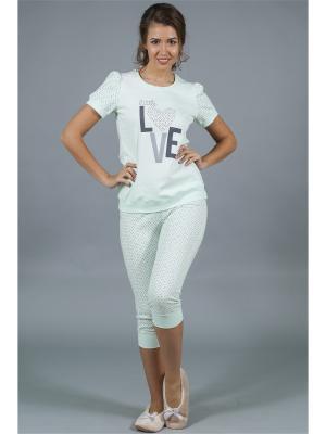Пижама ОДДИС®. Цвет: светло-зеленый, молочный
