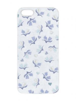 Чехол для iPhone 5/5s Голубые колокольчики Арт. IP5-287 Chocopony. Цвет: белый, синий, голубой, светло-голубой