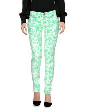 Повседневные брюки SHIELD. Цвет: светло-зеленый