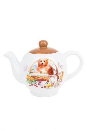 Чайник заварочный Polystar Collection. Цвет: белый, коричневый