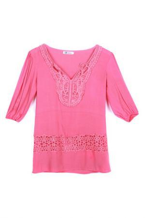 Блузка LESARA. Цвет: красный