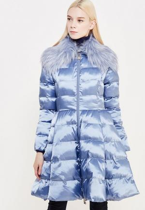 Куртка утепленная Elisabetta Franchi. Цвет: голубой