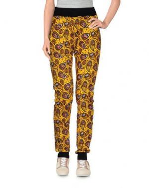 Повседневные брюки 10X10 ANITALIANTHEORY. Цвет: желтый