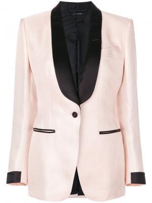 Пиджак с лацканами-шалькой Tom Ford. Цвет: розовый и фиолетовый