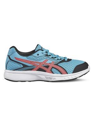Спортивная обувь STORMER GS ASICS. Цвет: морская волна, розовый, черный