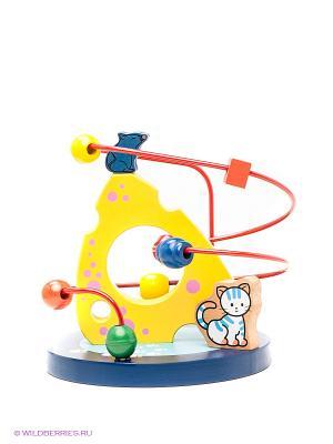 Развивающая игра рамка Кошки-Мышки MAPACHA. Цвет: желтый, синий