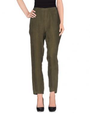 Повседневные брюки HOTEL PARTICULIER. Цвет: зеленый-милитари