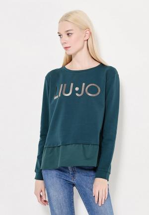 Свитшот Liu Jo Jeans. Цвет: зеленый