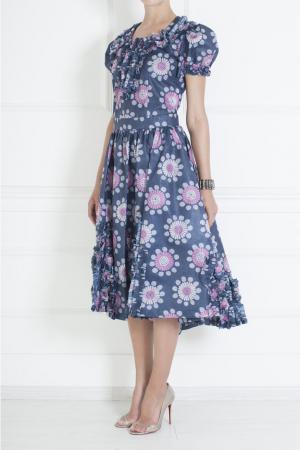 Платье из полиэстера Comme des Garcons. Цвет: сиреневый, розовый