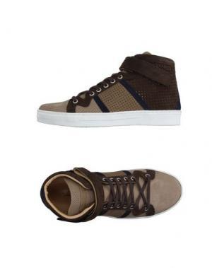 Высокие кеды и кроссовки ALESSANDRO DELL'ACQUA. Цвет: песочный