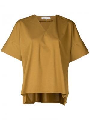 Топ-кимоно с V-образным вырезом 08Sircus. Цвет: коричневый
