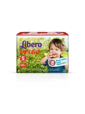 Libero Трусы детские одноразовые Up&Go макси плюс 10-14кг 30шт упаковка экономичная. Цвет: зеленый