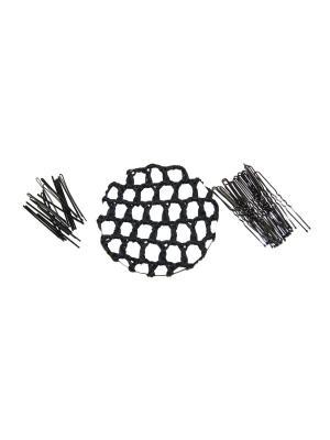 Набор для волос (сетка на пучок, 20 невидимок, шпилек) Lola. Цвет: черный