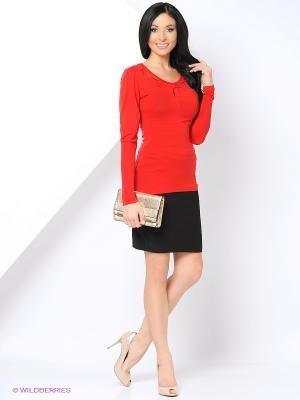 Блузка THEMACCA. Цвет: красный