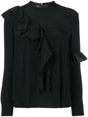 Блузка с оборкой Drome. Цвет: чёрный