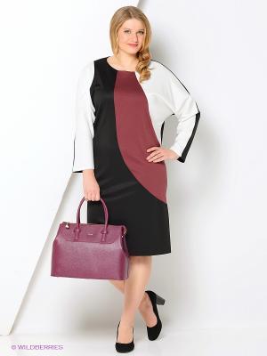 Платье МадаМ Т. Цвет: бледно-розовый, черный