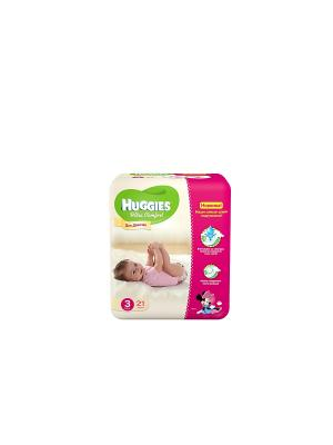 Подгузники Ultra Comfort Размер 3 5-9кг 21шт для девочек HUGGIES. Цвет: розовый