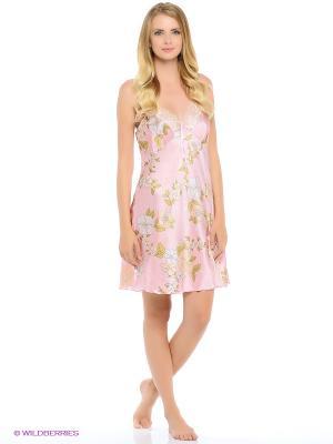 Сорочка ночная Monti Liv'eri. Цвет: розовый, зеленый, персиковый, серый