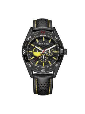 Часы GEPARD.. Цвет: черный,красный,желтый