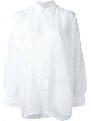 Свободная рубашка Junya Watanabe Comme Des Garçons. Цвет: белый
