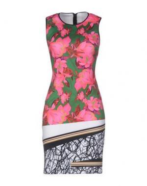 Короткое платье CLOVER CANYON. Цвет: зеленый