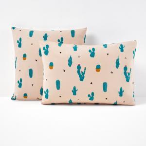 Наволочка с рисунком, Cactus La Redoute Interieurs. Цвет: розовый/ зеленый
