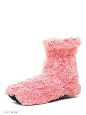 Сапожки-грелки розовые Warmies. Цвет: розовый