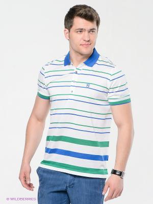 Футболка MONDIGO. Цвет: белый, зеленый, синий