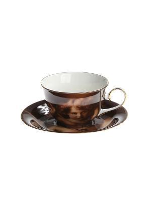 Набор чайный 2 предмета 200 мл. PATRICIA. Цвет: темно-коричневый