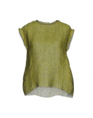 Блузка MANOSTORTI. Цвет: светло-зеленый