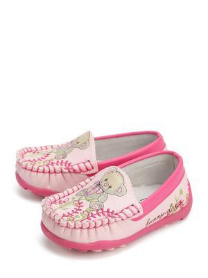 Мокасины KENKA. Цвет: розовый