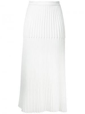 Плиссированная юбка Dion Lee. Цвет: белый