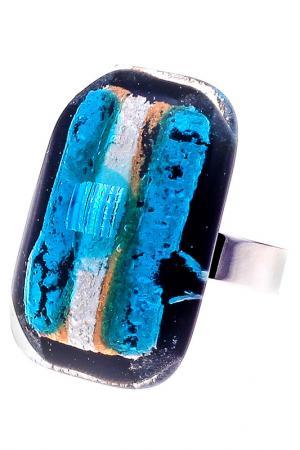 Кольцо Rozzeta. Цвет: голубой