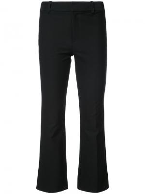 Cropped Flare Trouser with Tuxedo Piping Derek Lam 10 Crosby. Цвет: чёрный