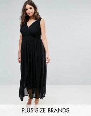 Praslin Платье макси с V-образным вырезом. Цвет: черный