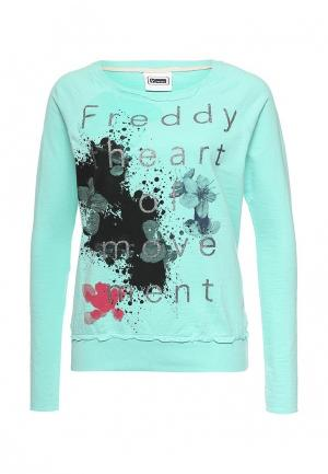 Свитшот Freddy. Цвет: бирюзовый